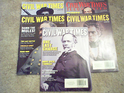 Civil War Times. Five History Magazines concerning the Civil War.