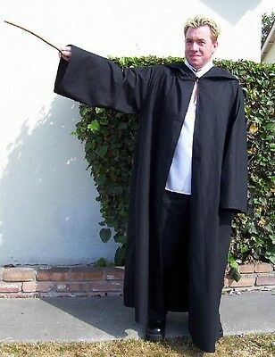 Custom sizes up to 5X-- Open Hooded Robe (Harry Potter style) Wiccan Pagan Witch