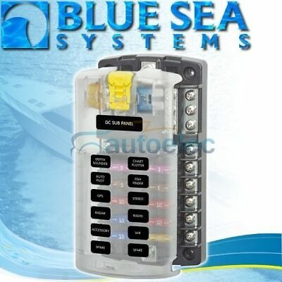 Blue Sea 5026 Fuse Block Box Holder Marine Boat Battery 12 Volt 12V 12 Way New