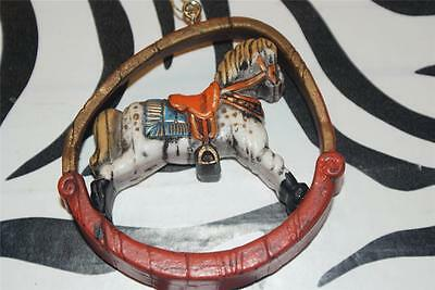 "Vintage Hallmark Twirl-Abouts ""Rocking Horse"" Christmas Ornament"