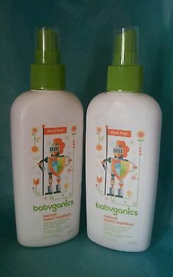 2 Babyganics Natural Insect Repellent Deet Free 100% Natural NEW