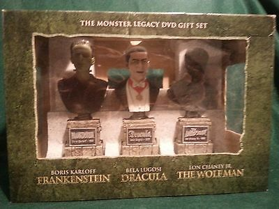 Universal Famous Monsters DVD Legacy Gift Set Statues Busts NO DVDS Dracula