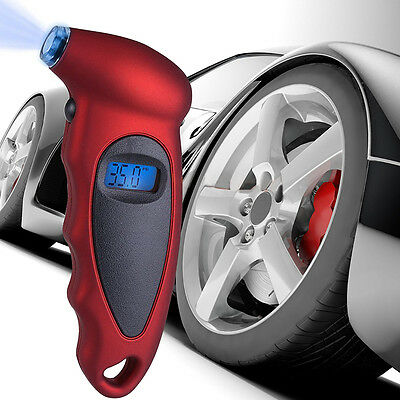 150PSI LCD Digital Tire Tyre Air Pressure Gauge Tester For Auto Car Motorcycle