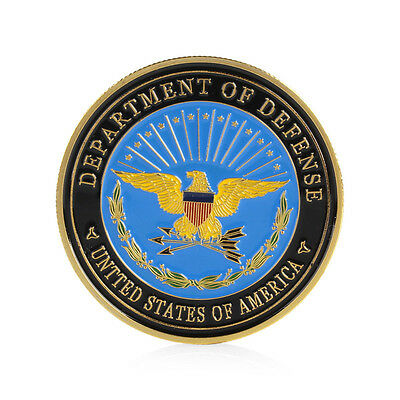 Gold Plated Army US Navy Air Force Marines Corps The Pentagon Commemorative Coin