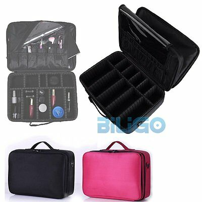 Professional Portable Makeup Bag Cosmetics Beauty Case Travel Carry Storage Box