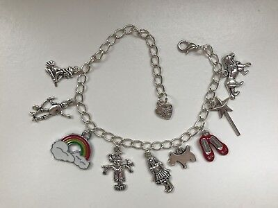 Charm bracelet with wizard of oz theme