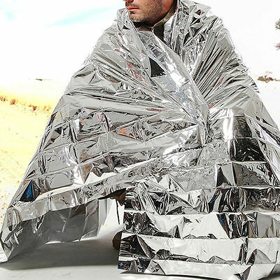 1Pc Outdoor Survival Rescue Blanket Waterproof Emergency Foil Thermal First Aid