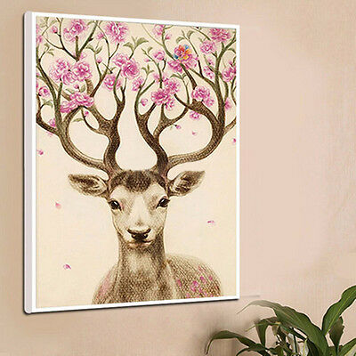 Hot 5D Cross Stitch Craft Sika Deer Diamond Painting Embroidery Home Art Decor