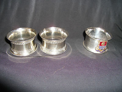 Collection of Silver Plated Napkin Rings Ref 772