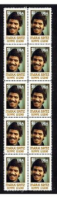 Mark Spitz Olympic Legend Strip Of 10 Mint Stamps 2