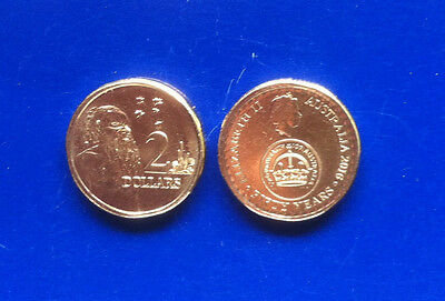 Australia 2016 - 2 UNCIRCULATED $2 - 50 yrs Decimal currency & Aborigine coins