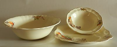 J & G Meakin England Sunshine Plate, Large Bowl and Small Bowl
