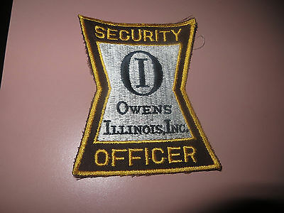 Embroidered Owens Illinois Security Patch