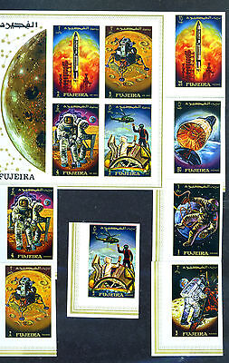 Fujeira imperf space stamps