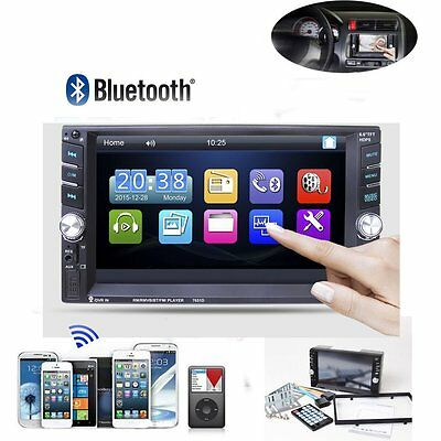 """6.6"""" Double 2 DIN Bluetooth Car Radio Stereo MP5 Player Touch Screen Head Units"""