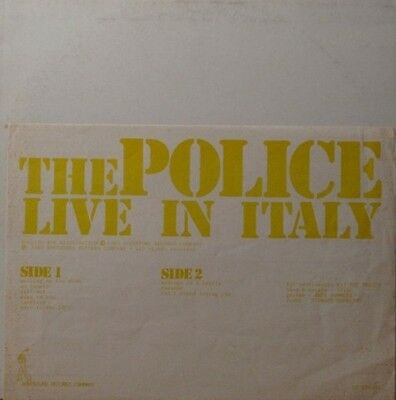 Police - Live In Italy - Very Rare - Lp - Coloured Vinyl