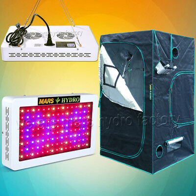 Mars 600W Led Grow Light Veg Flower Hydro Plant +39×39×70 Indoor Grow Tent Kit
