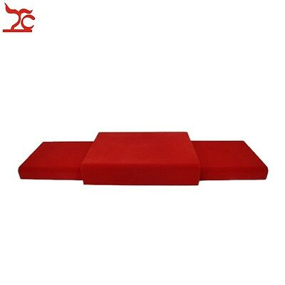 Free Shipping Red Velvet Bottom Board Set Portable Wooden Jewelry Display Plate
