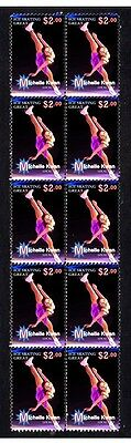 Michelle Kwan Ice Skating Great Strip Of Mint Stamps 3