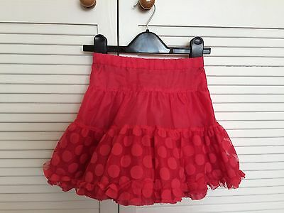 TU Girl's Red Skirt Size 5 Years