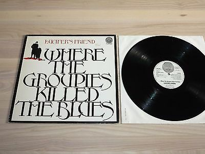 LUCIFER'S FRIEND LP + POSTER - WHERE THE GROUPIES / GER VERTIGO SWIRL in MINT