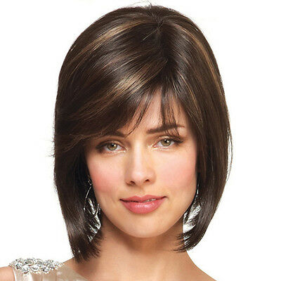 Fashion Women Natural Short Lace Front Wigs Full Bob Lace Human Hair Wigs New