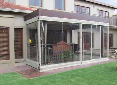 Garden Pvc Curtain Wall (650G/sq.m) With Clear Pvc Window Panel