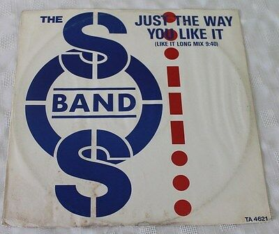 """THE S.O.S. BAND * JUST THE WAY YOU LIKE IT * Classic Soul Funk Boogie 12"""" Vinyl"""