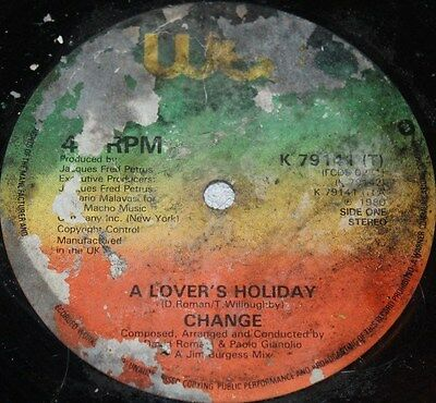 """CHANGE * A LOVER'S HOLIDAY * Classic Soul Funk Boogie 12"""" Vinyl"""