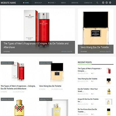 PERFUME STORE - Business Website For Sale! Earn Money At Home! Free Hosting!