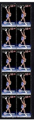 Michelle Kwan Ice Skating Great Strip Of Mint Stamps 5