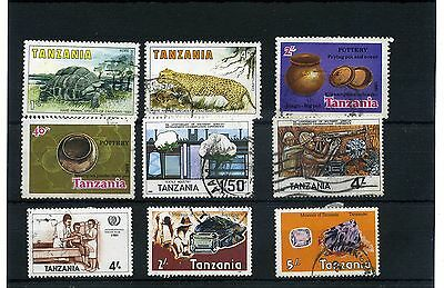 Tanzania.9 -- Early Used Stamps On Stockcard
