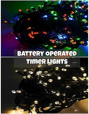 50/100/200/400/600 LED Battery Operated Christmas Fairy String Lights With Timer