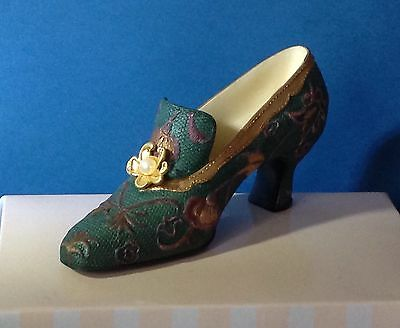 Mayfair/nostalgia If The Shoe Fits - Green Tapestry Collectors Shoe