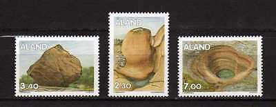 13829) ALAND 1995 MNH** Rock Formations