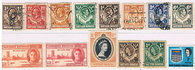 NORTHERN RHODESIA 1925 - 1963 Collection (14)