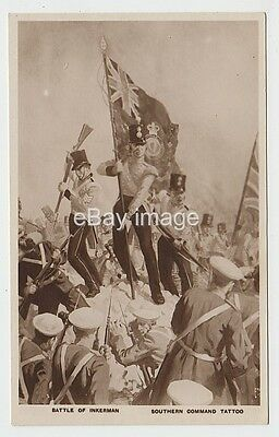 Southern Command Military Tattoo - Royal Horse Artillery Searchlight postcard