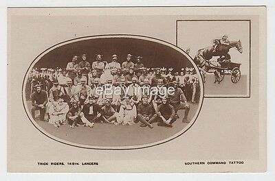 Southern Command Military Tattoo - 16/5th Lancers Trick Riders RP postcard