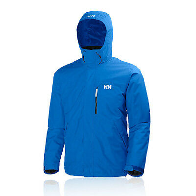 Helly Hansen Squamish Hombre Azul Impermeable Resiste Viento Correr Chaqueta Top