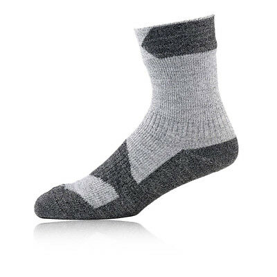 Sealskinz Thin Hombre Gris Impermeable Caminar Trekking Tobillo Calcetines