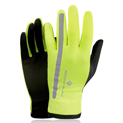 Ronhill Radiance Hombre Mujer Amarillo Invierno Calentar Running Deporte Guantes