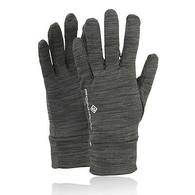 Ronhill Victory Hombre Mujer Gris Invierno Calentar Exterior Running Guantes