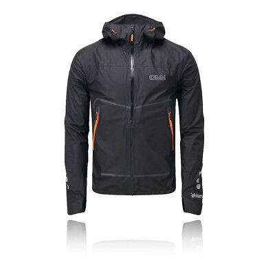 Omm Aether Unisex Negro Impermeable Mangas Largas Running Capucha Chaqueta Top