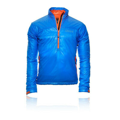 Omm Rotor Hombre Azul Impermeable Cremallera 1/2 Mangas Largas Running Chaqueta