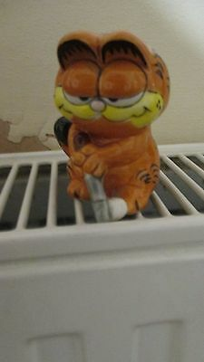 Small Ceramic Golfing Collectable Garfield