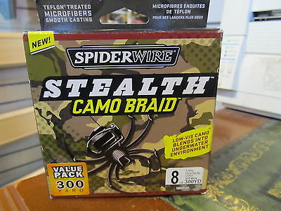 Spiderwire Stealth Camo Braid 300Yd 8Lb  Ss8C-300 Clearance Offer