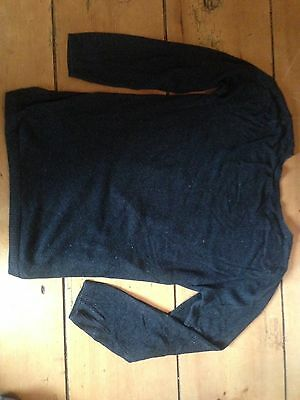 Maternity Christmas jumper size 14 Marks and spencer Sparkle Black Grey charcoal