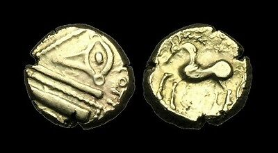 CE-DKPT - NORTH CENTRAL GAUL - Remi, LVCOTIOS, Gold Stater, ca.100-75BC. V-RARE