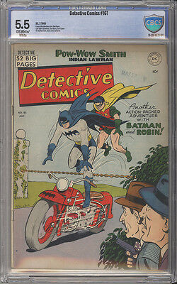 Detective Comics # 161  Man Who Died on Time ! CBCS 5.5 scarce Golden Age book !