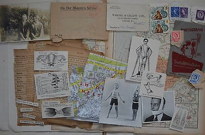 Paper Supplies De Stash 8 - Assorted Book Pages, Postage Stamps, Postcard